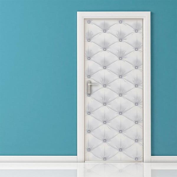 Adhezívna samolepka na dvere Ambiance White Padded Door, 83 x 204 cm