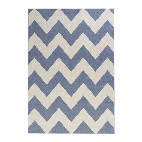 Modro-biely koberec vhodný aj do exteriéru Unique, 200×290 cm