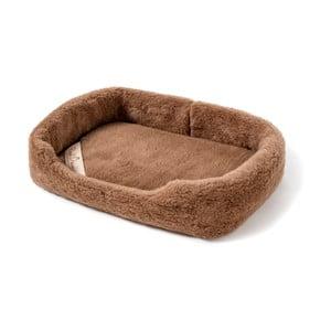 Pat coș din lână merino, pentru animale de companie Royal Dream, lățime 60 cm, maro