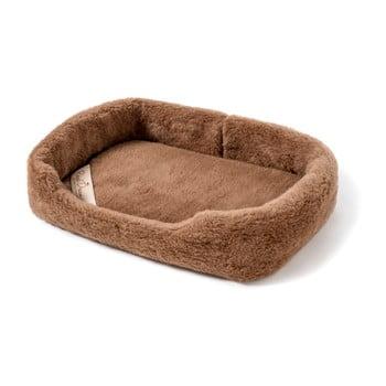 Pat coș din lână merino, pentru animale de companie Royal Dream, lățime 60 cm, maro de la Royal Dream