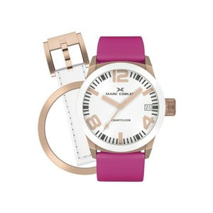 Dámské hodinky Marc Coblen s páskem a kroužkem navíc P22