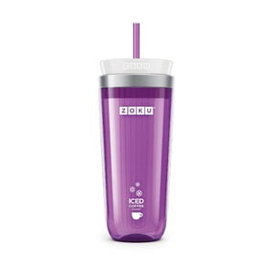 Pahar pentru ice coffee Zoku Iced Coffee, violet