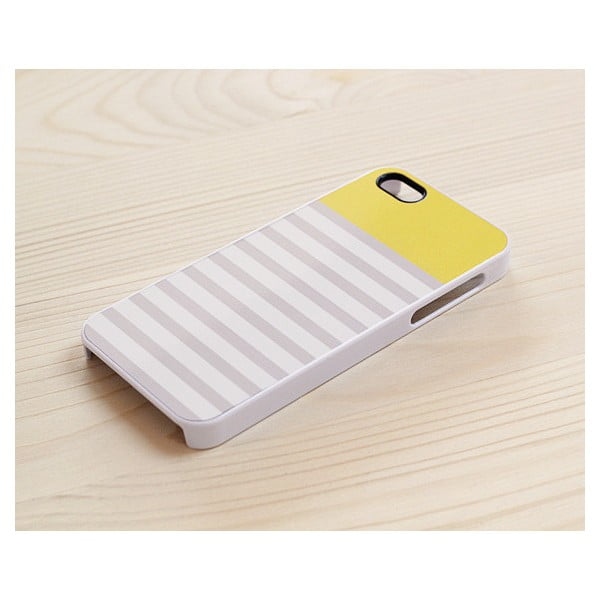Obal na iPhone 4/4S, Mellow Yellow in white