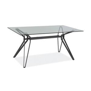 Jídelní stůl s deskou z tvrzeného skla Signal Tivoli, délka160cm
