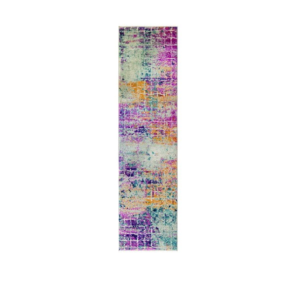 Różowy chodnik Flair Rugs Urban Abstract, 60x220 cm