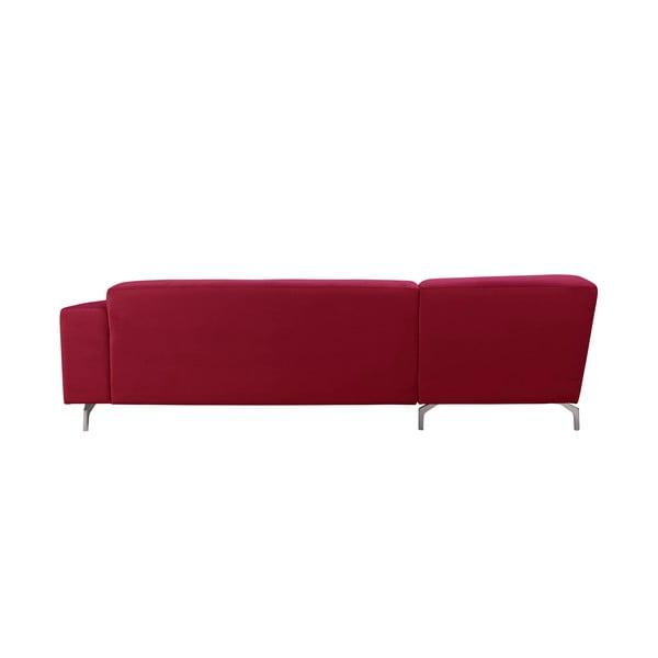 Červená rohová pohovka Windsor & Co Sofas Orion, pravý roh
