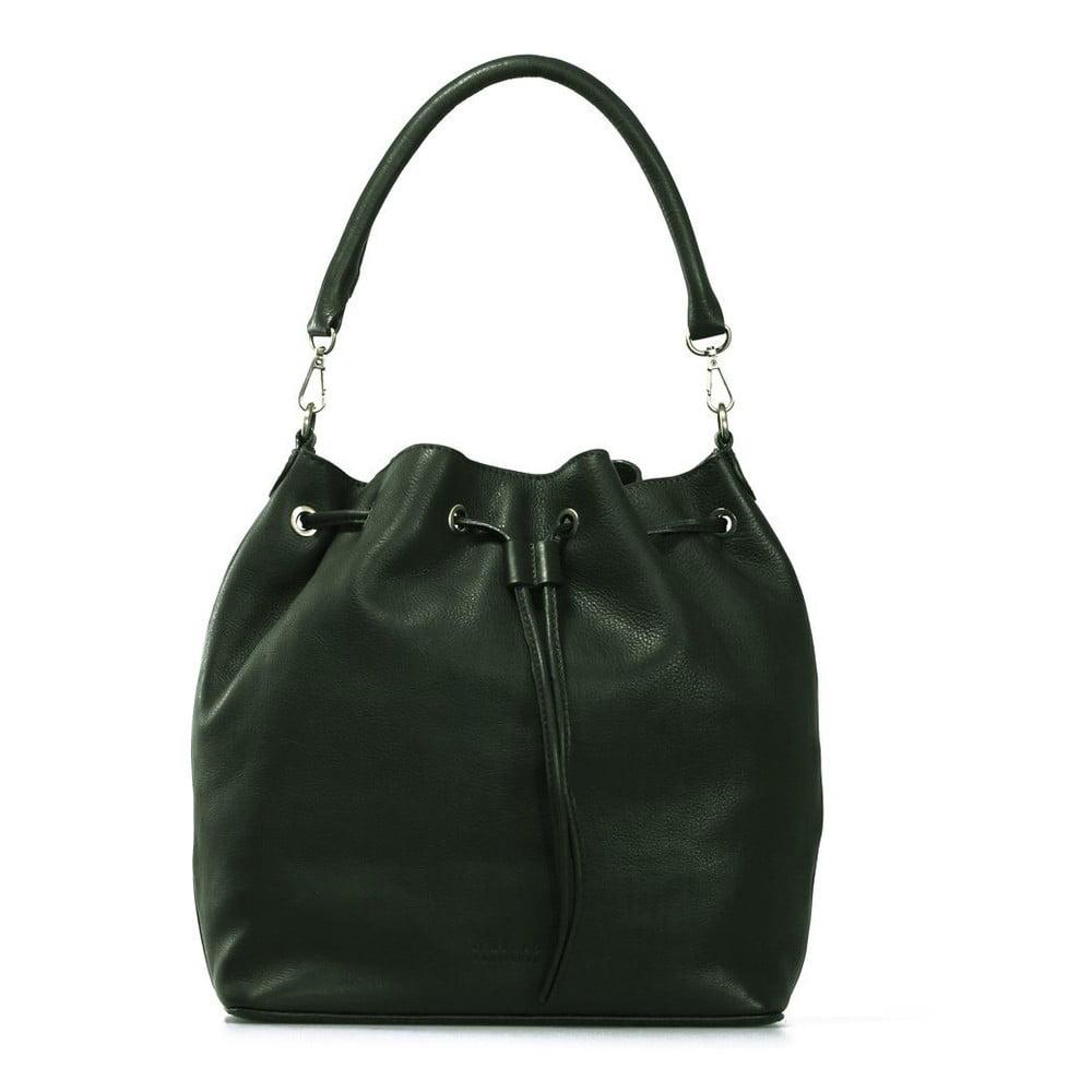Tmavě zelená kožená kabelka O My Bag The Donna