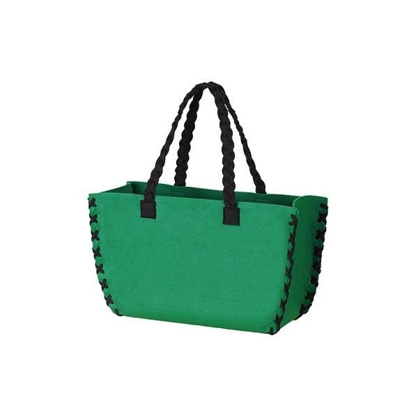 Velká plstěná taška, zelená