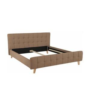 Hnědá dvoulůžková postel Støraa Limbo, 180x200cm