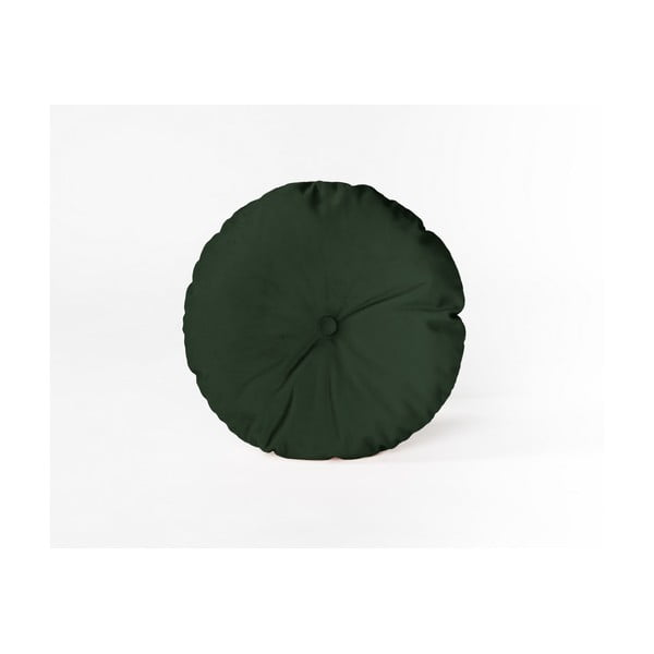 Pernă decorativă rotundă Velvet Atelier Dark Green, ⌀ 45 cm
