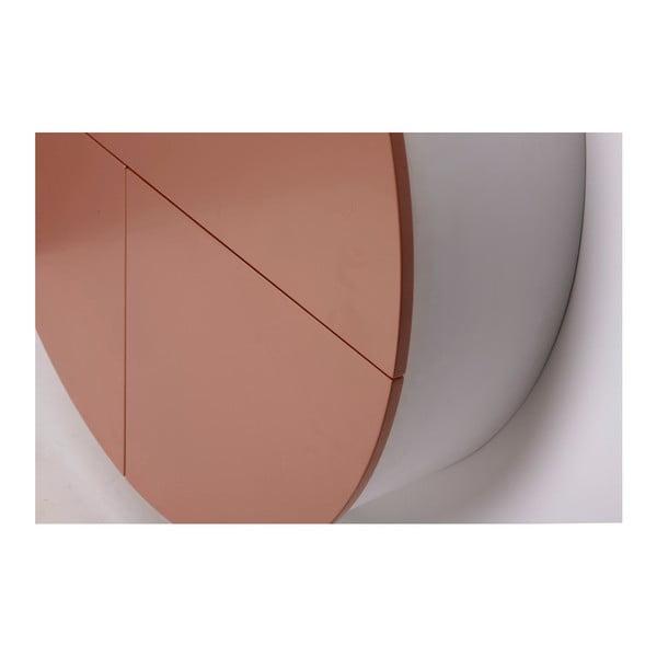 Růžovo-bílý nástěnný multifunkční stůl EMKO Pill