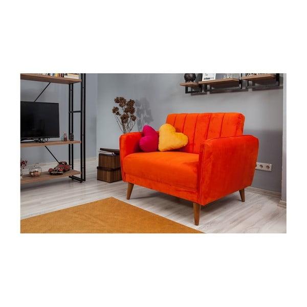 Oranžové rozkládací křeslo Sifi