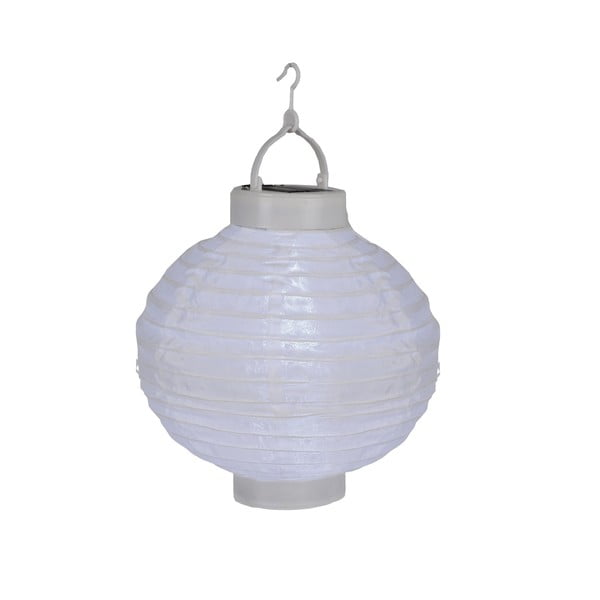 Solární lampion s LED žárovkou, bílý