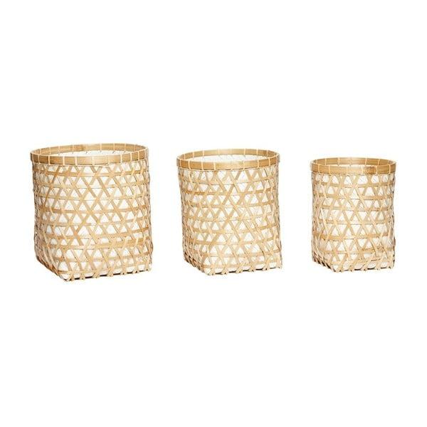 Zestaw 3 koszyków bambusowych Hübsch Hellige