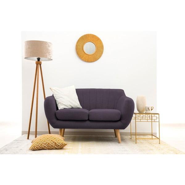 Canapea cu 2 locuri Vivonia Kennet, violet