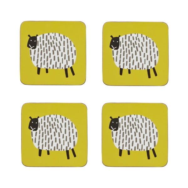 Sada 4 podtácků Dotty Sheep