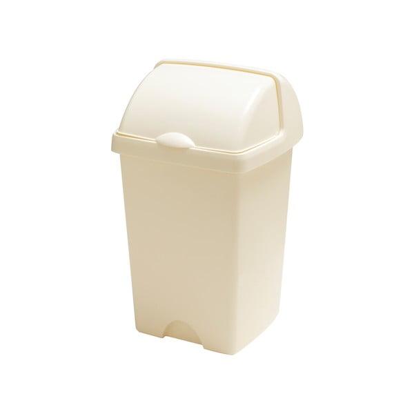 Väčší krémový odpadkový kôš Addis Roll Top, 31 x 30 x 52,5 cm