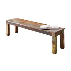 Jídelní lavice z recyklovaného mangového dřeva Skyport DELHI, 160 x 45 cm