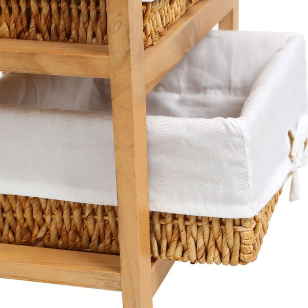 Police ze dřeva paulownia s 2 úložnými košíky Premier Housewares Honey
