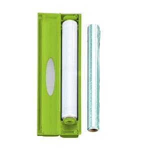 Zelený plastový kryt na potravinovou fólii Wenko Perfect Cutter