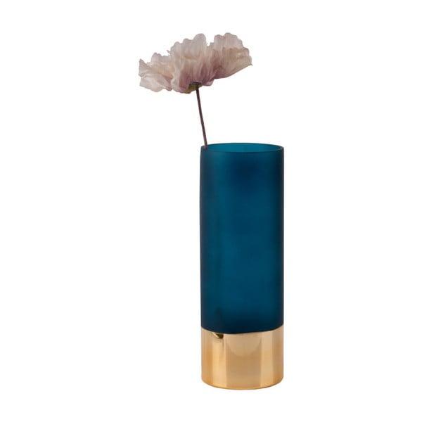Modro-zlatá váza PT LIVING Glamour, výška 25 cm