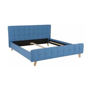 Modrá dvoulůžková postel Støraa Limbo, 180x200cm