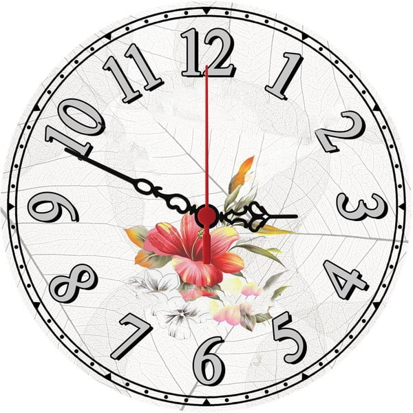 Nástěnné hodiny Wild Flower, 30 cm