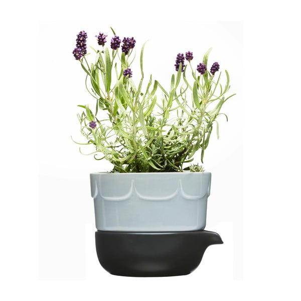 Levandulově modrý květináč se zavlažovací miskou Sagaform