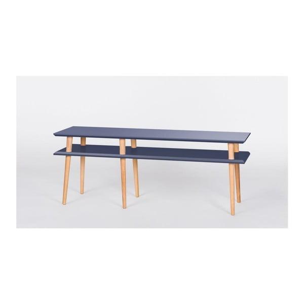Grafitově šedý konferenční stolek Ragaba Mugo,délka139cm