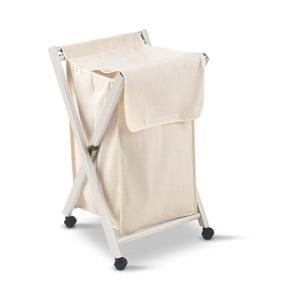 Bílý koš na prádlo z bukového dřeva Arredamenti Italia Banny