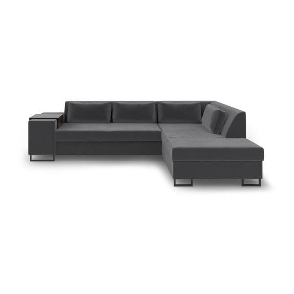 Ciemnoszara rozkładana sofa prawostronna Cosmopolitan Design San Diego