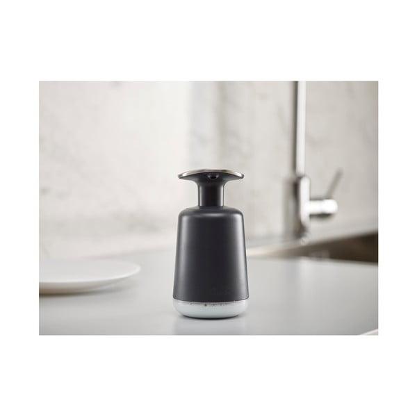 Černý dávkovač na tekuté mýdlo Joseph Joseph Presto