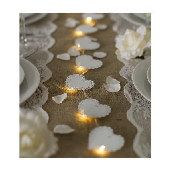 Svatební girlanda s LED světly Metal Heart, 1 m