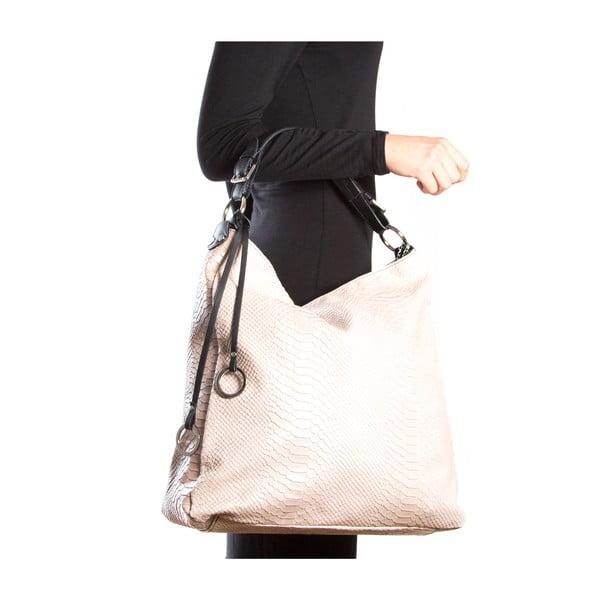 Kožená kabelka Clair, růžová