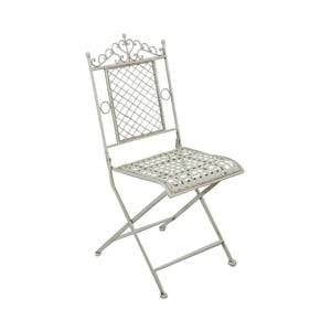 Bílá zahradní židle Crido Consulting Algoma