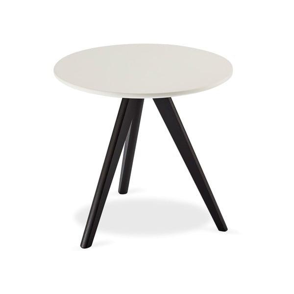 Life fekete-fehér fa kisasztal, ⌀ 48 cm - Furnhouse
