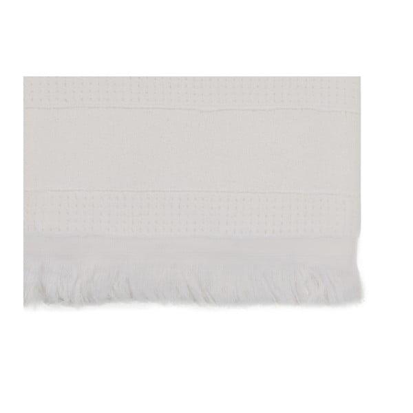 Šedý ručník z čisté bavlny Lovely Day, 80 x 150 cm
