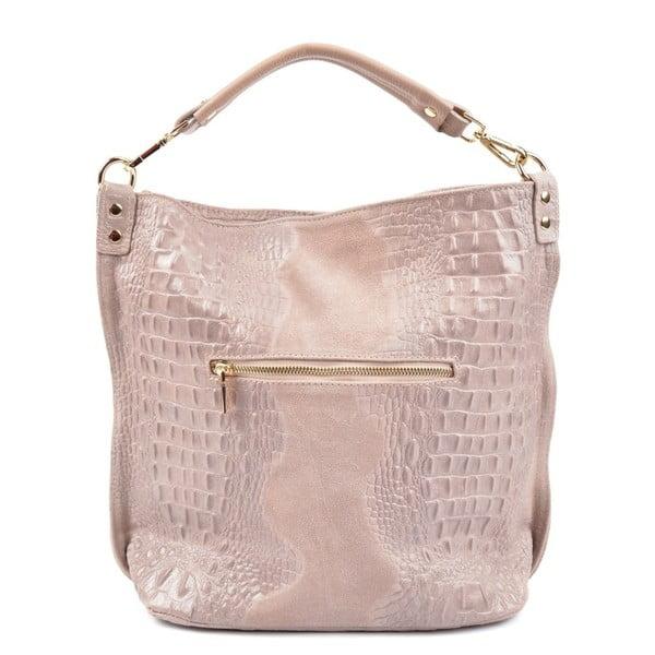 Pudrově růžová kožená kabelka RobertaM Russna