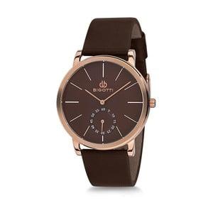 Pánské hodinky s černým koženým řemínkem Bigotti Milano Luxury