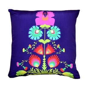 Polštář s náplní Folklor Purple, 50x50 cm