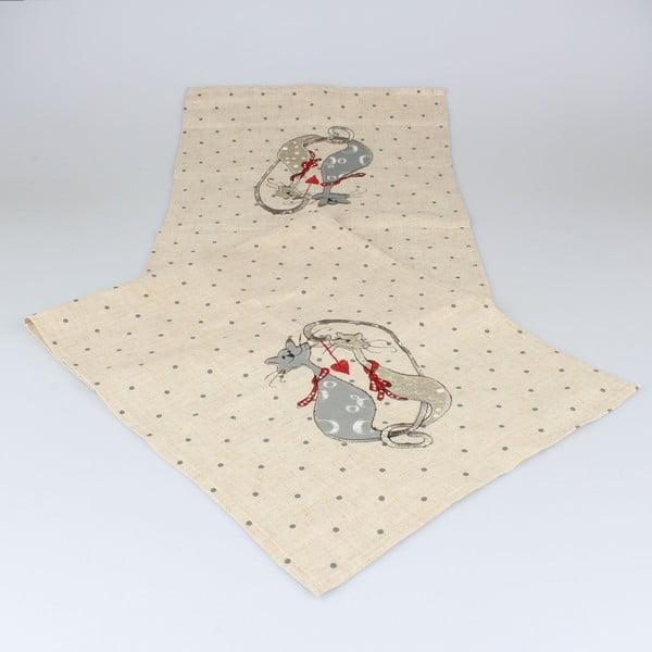 Běhoun na stůl Dakls Cats, 140x33cm