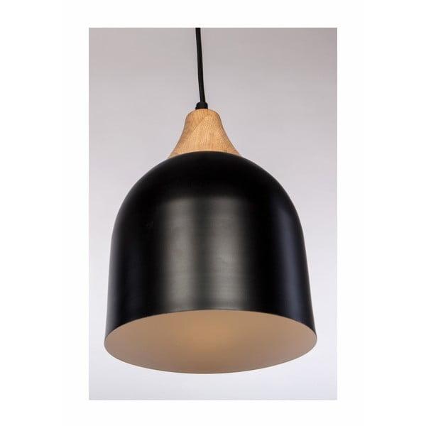 Betttly fekete függőlámpa tölgyfából és acélból - Nørdifra