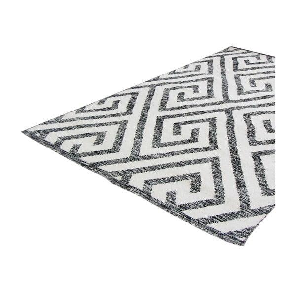 Ručně tkaný koberec Kilim Design 69 Black/White, 100x150 cm