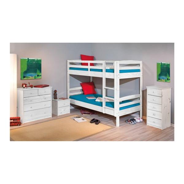 Bílá patrová postel 13Casa Ricky, 90x190cm