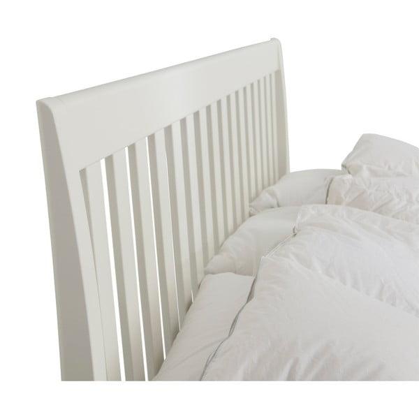 Bílá ručně vyráběná dvoulůžková postel z masivního březového dřeva Kiteen Matinea, 160x200cm