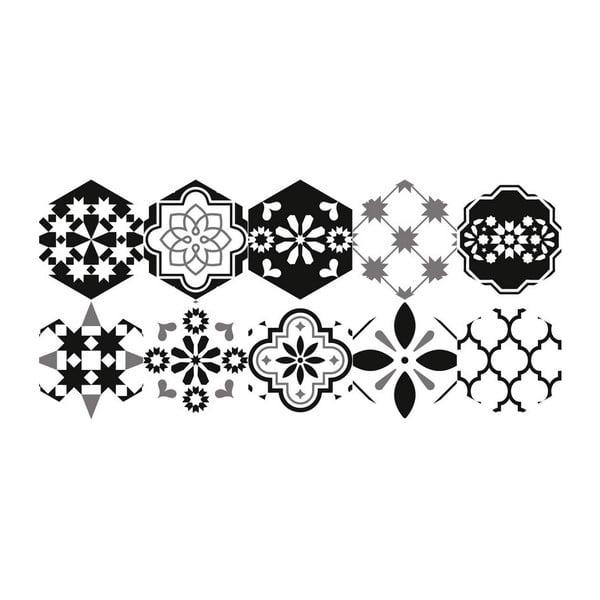 Set 10 autocolante impermeabile pentru podea Ambiance Luis, 20 x 18 cm