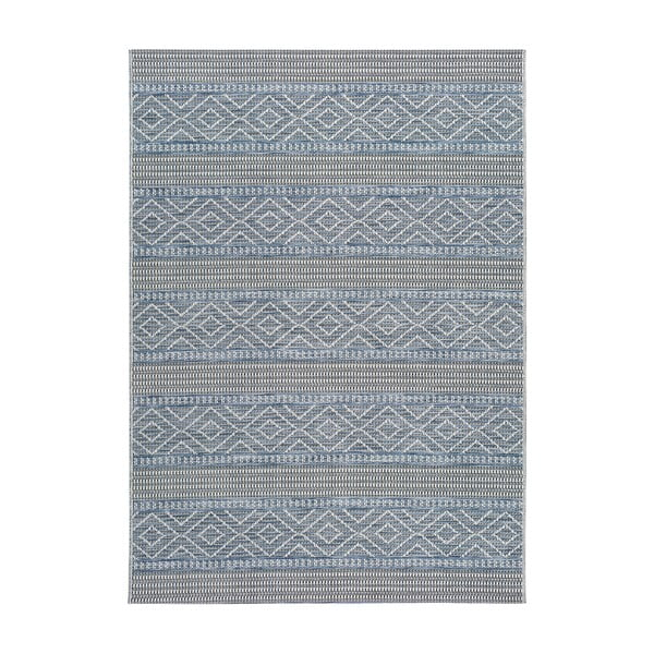 Modrý vonkajší koberec Universal Cork Lines, 115 x 170 cm