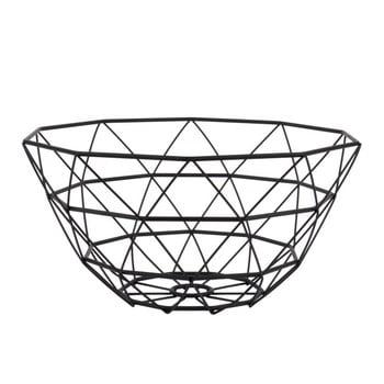 Fructieră PT LIVING Diamond, ⌀ 30 cm, negru imagine
