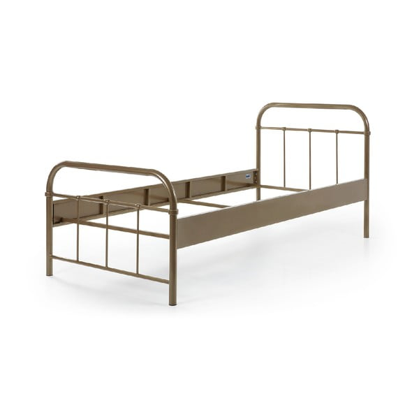 Brązowe metalowe łóżko dziecięce Vipack Boston, 90x200 cm