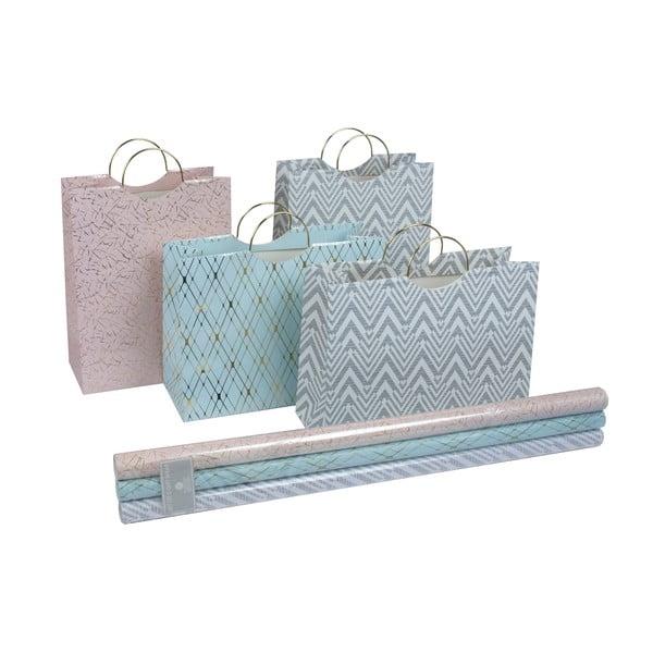 Sada 4 dárkových tašek a balícího papíru Stockholm